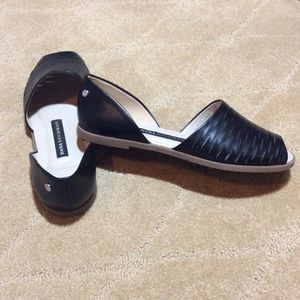 Dana Buchman Camina Black Slip-on Sandals, 6M